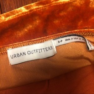 Urban Outfitters Tops - Urban Outfitters Orange Velvet Cropped Cami